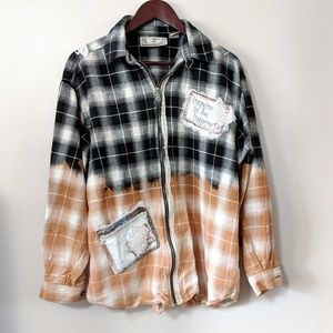 Bleached Shabby Chic Flannel